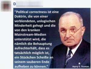 Harry S. Truman hat so einiges gesagt...
